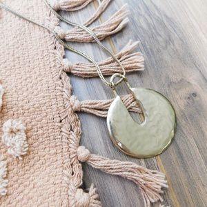 Chico's Gold Tone Pendant Necklace